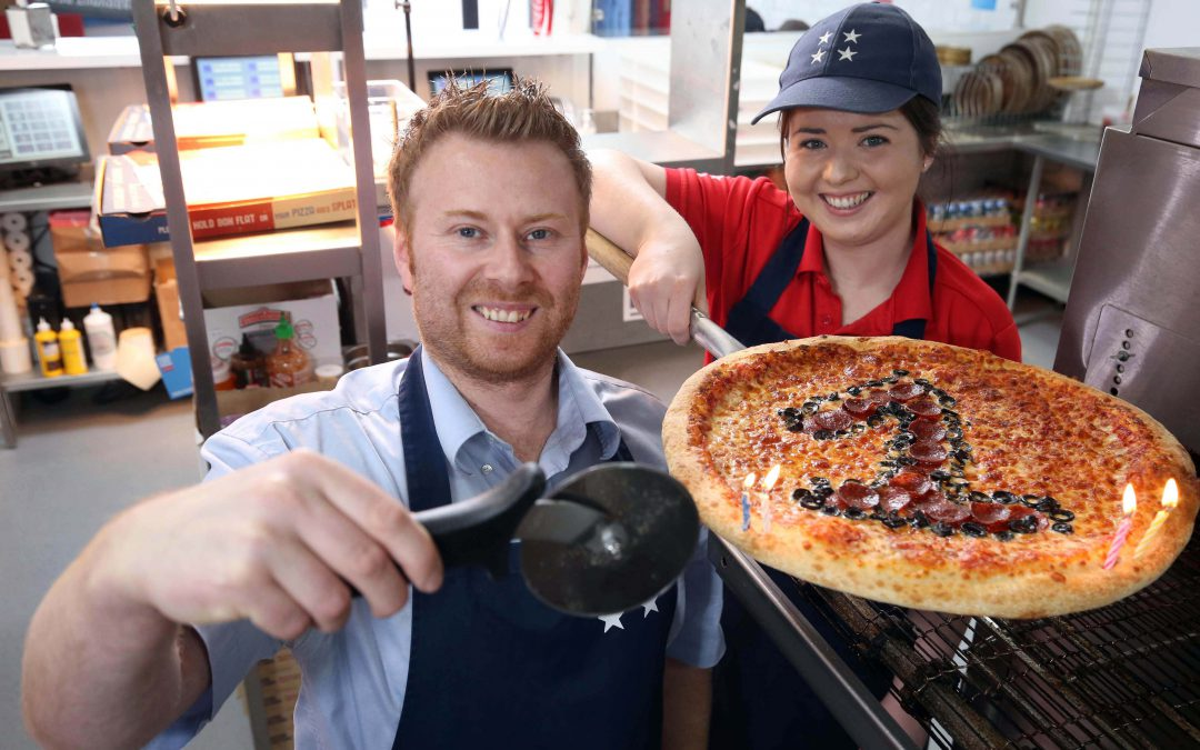 First year is a pizza cake for Bangor restaurant