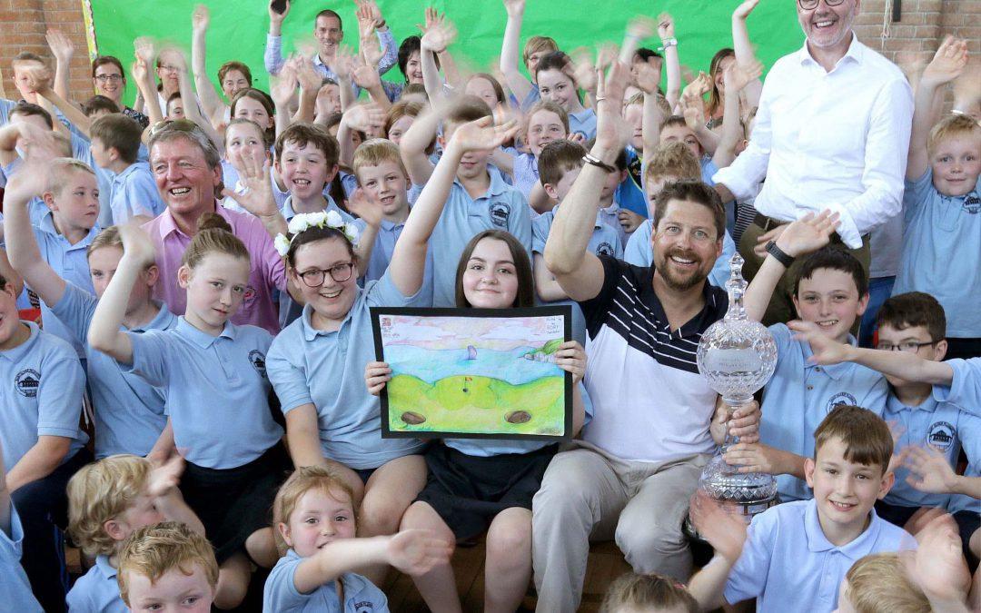 Co Tyrone school pupil reigns supreme in Dubai Duty Free Irish Open drawing competition