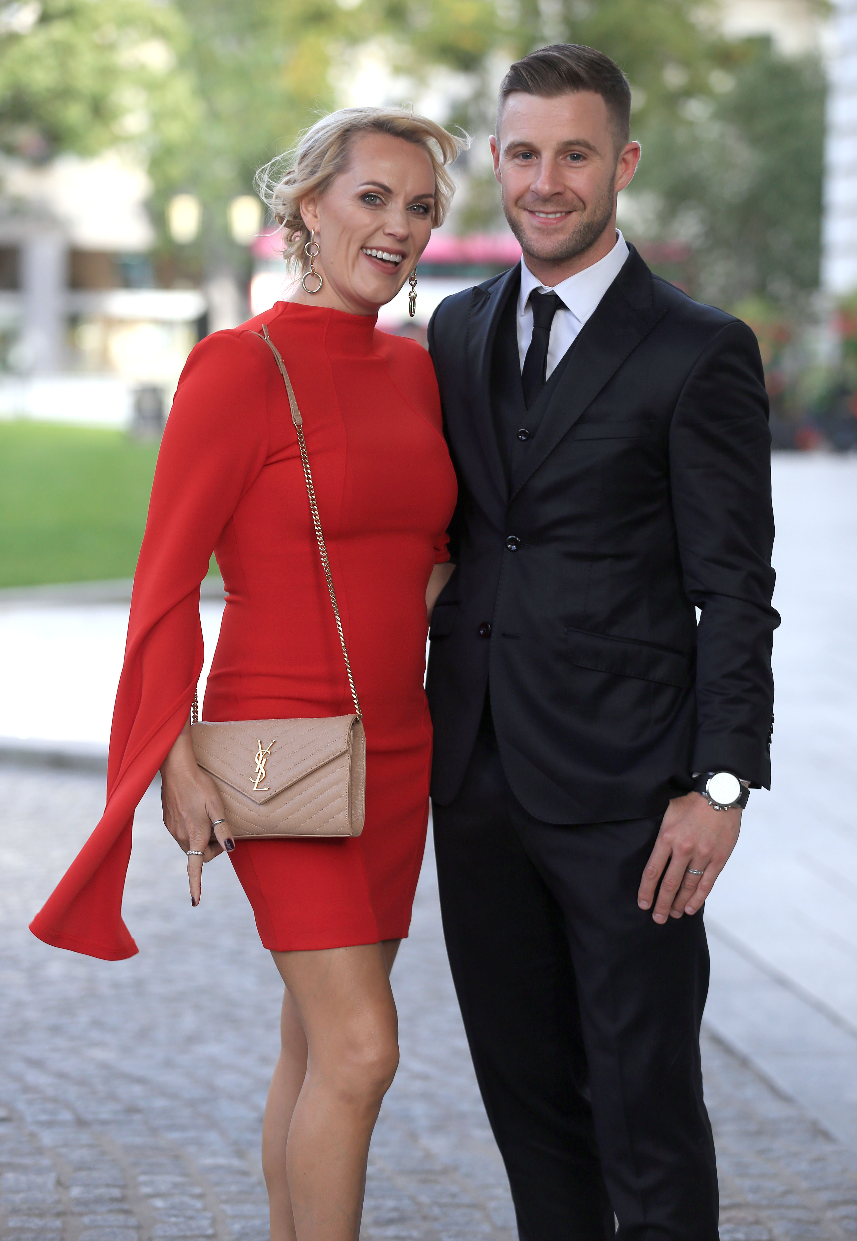 PACEMAKER, BELFAST, 6/9/2018: Jonathan Rea and his wife Tatia, arrive at the glittering Ulster Tatler Awards in Belfast City Hall tonight. Jonathan was the winner of the prestigious Sportsperson of the Year award. Northern IrelandÕs longest-running glossy magazine, Ulster Tatler, is celebrating over 50 years on the shelves of NI, and its eleventh annual awards recognise the people and businesses of Northern Ireland that have lit up its pages since 1966. PICTURE BY STEPHEN DAVISON