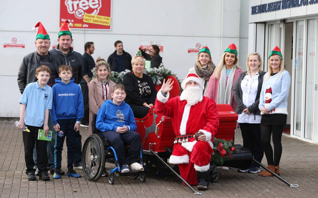 National Lottery winners bring Christmas magic to Children's Hospital