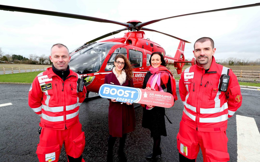 Air Ambulance NI receives Boost from soft drink giant