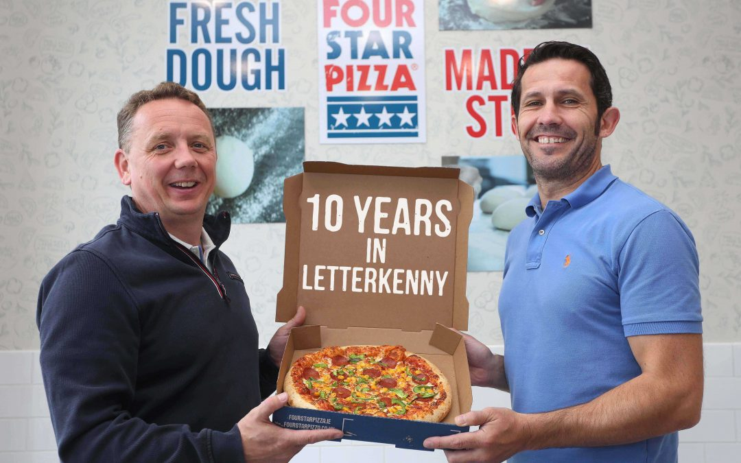 Four Star Pizza celebrates 10 years in Letterkenny