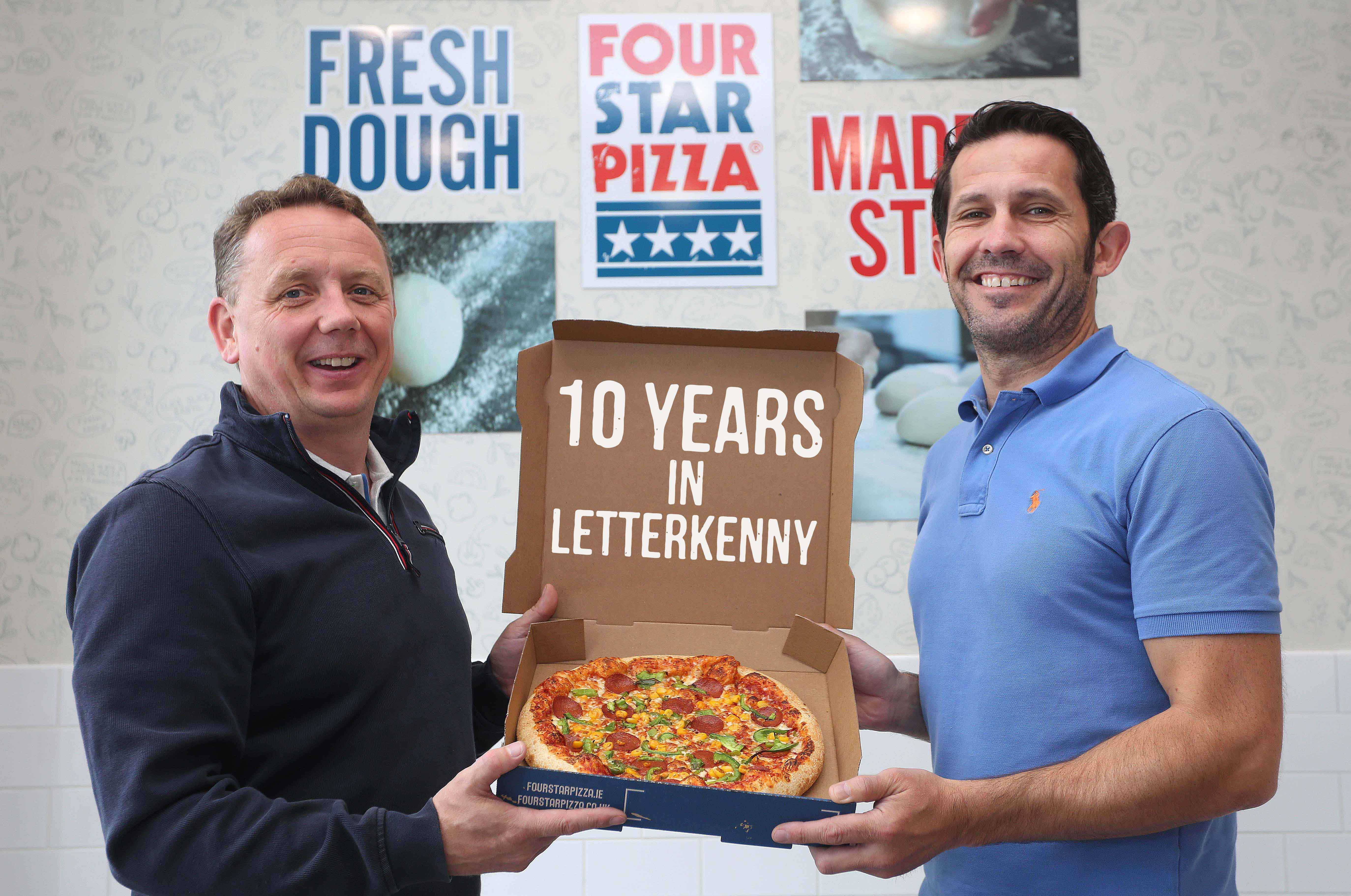 Four Star Pizza Celebrates 10 Years In Letterkenny Duffy