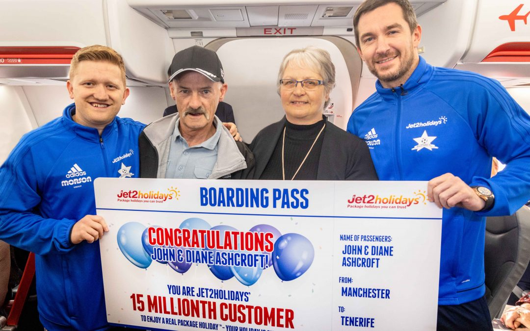 Jet2holidays celebrates 15 million customers!