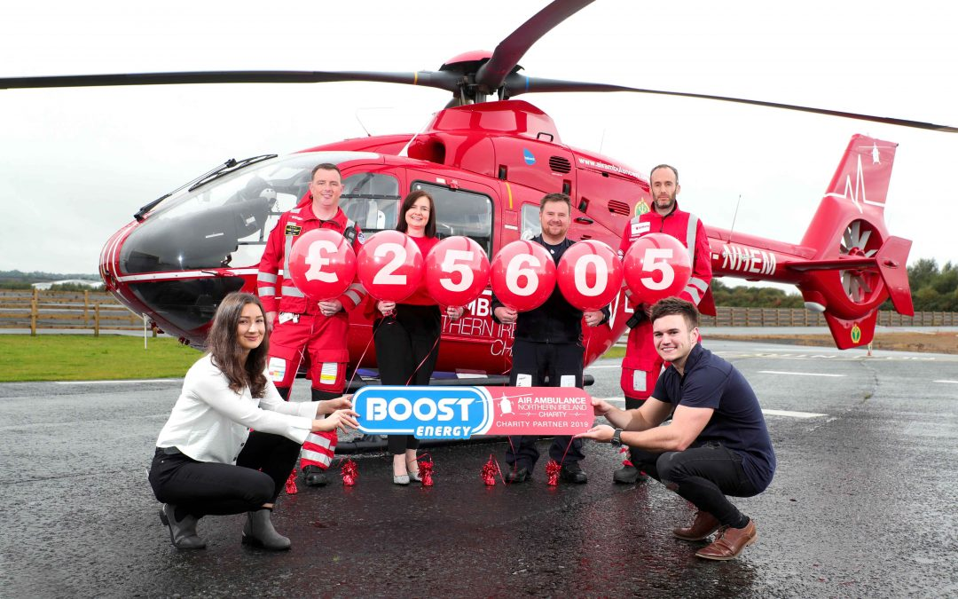 Air Ambulance NI receives £25k Boost from soft drink giant
