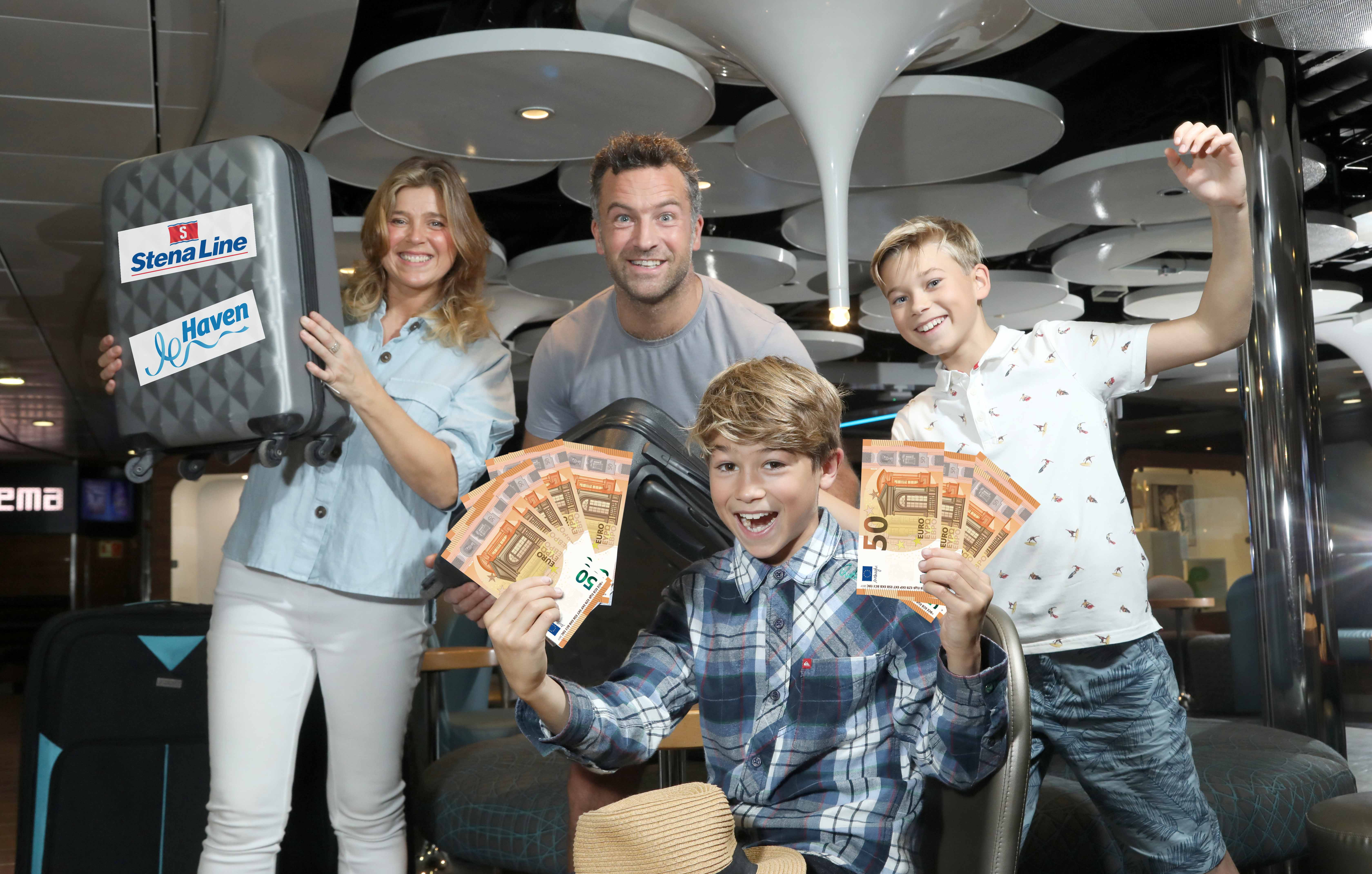 The Stockdale family are pictured celebrating Stena Line's latest early booking offer, giving families the chance to save up to €600* on a seven-night summer self-catering Haven holiday if booked by February 29. With a low deposit from only €50 to secure the getaway with Stena Line, holidaymakers can enjoy a stress-free travel experience and look forward to no baggage restrictions, action packed facilities and entertainment every night for no extra cost, from March to October 2020. For further information or to book go to www.stenaline.co.uk/haven, call 08445 768 768 or see your travel agent. *Terms and conditions apply. Subject to availability.