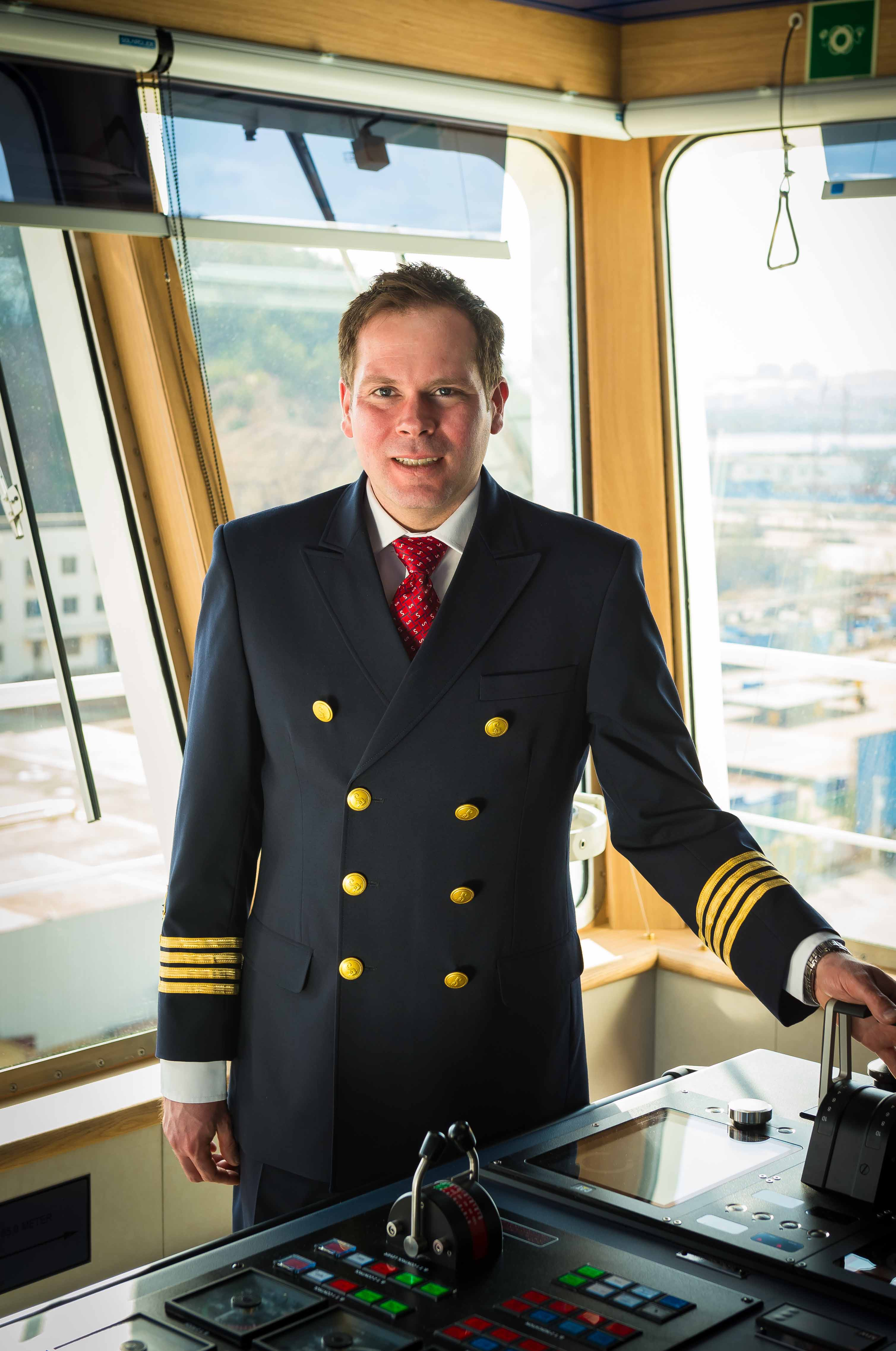 MASTER OF THE HIGH SEAS: Matthew Lynch has been appointed Senior Master on board Stena Line's newest ferry Stena Estrid. Captain 'Matt' (40) has described his appointment as the highlight of his 24-year sailing career to date and is currently steering Stena Estrid on its 10,000 mile journey from the AVIC Weihai Shipyard in China, where it was built, to the Irish Sea where it will start service on the Holyhead to Dublin route in January.