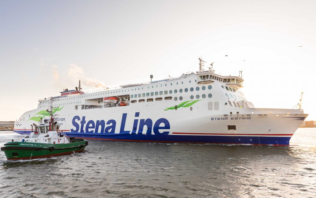 BON VOYAGE!!!  New Stena Line ferry defies Storm Brendan to start service on Irish Sea