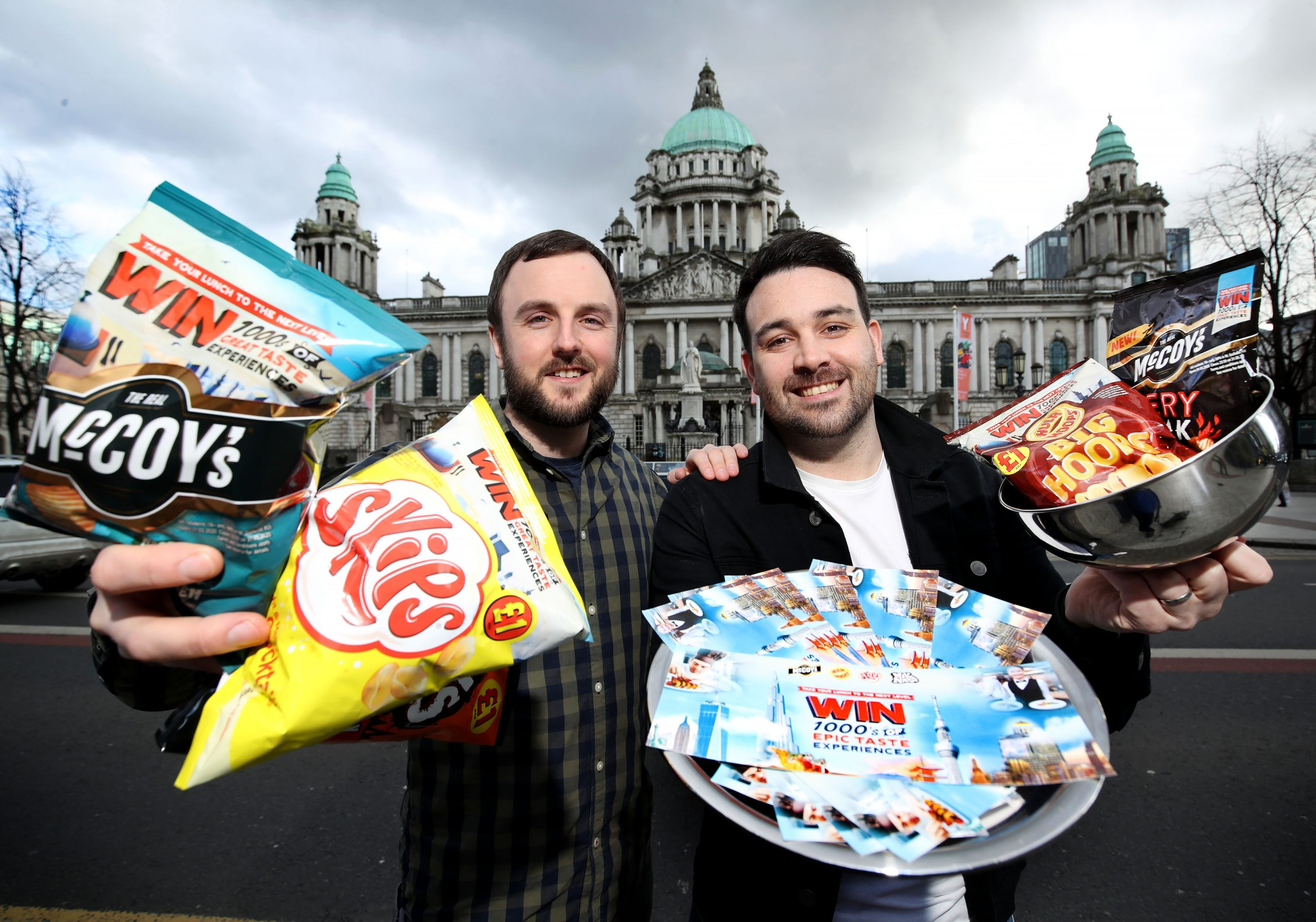 Take your lunch to the next level with KP Snacks: John Baxter of KP Snacks (NI) and The Belfast Food Blogger Conor Hogan have launched a tasty campaign that gives you the chance to win from a menu of prizes including amazing 5-night trips to Dubai, Tokyo, Bangkok or NYC to enjoy lunch in a skyscraper, plus £1000 in cash! There are also thousands of pounds worth of local restaurant vouchers being given away. This is part of KP Snacks' biggest ever campaign which offers Northern Ireland crisp lovers the chance of winning 1000's of great taste experiences when they pick up campaign branded bags of McCoy's, Skips, Nik Naks and Hula Hoops from now until the end of May. MEDIA ENQUIRIES: For further information, please contact Ciara Kinkead of Duffy Rafferty Communications on 028 9073 0880.