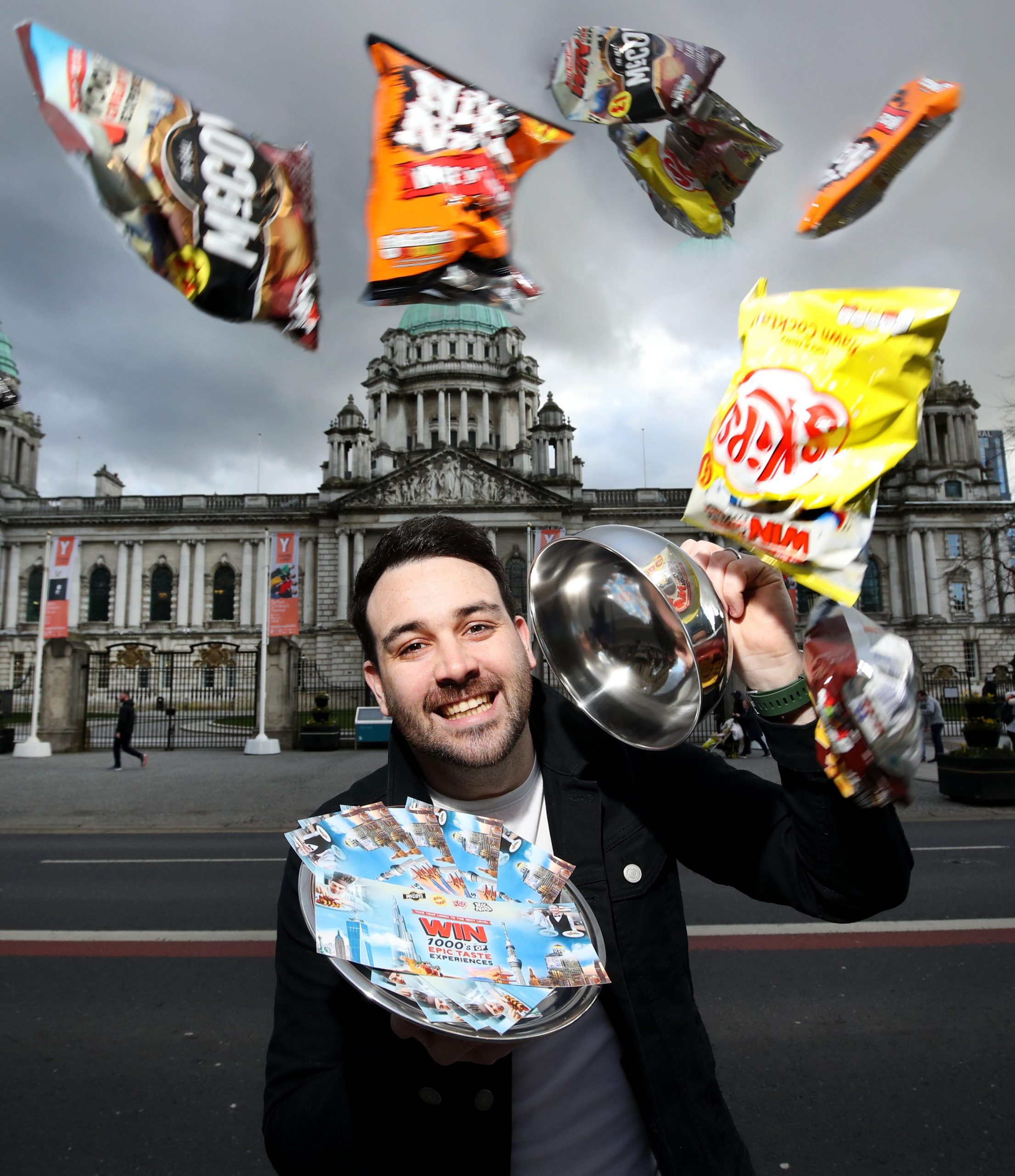 Take your lunch to the next level with KP Snacks: The Belfast Food Blogger Conor Hogan has launched a tasty campaign that gives you the chance to win from a menu of prizes including amazing 5-night trips to Dubai, Tokyo, Bangkok or NYC to enjoy lunch in a skyscraper, plus £1000 in cash! There are also thousands of pounds worth of local restaurant vouchers being given away. This is part of KP Snacks' biggest ever campaign which offers Northern Ireland crisp lovers the chance of winning 1000's of great taste experiences when they pick up campaign branded bags of McCoy's, Skips, Nik Naks and Hula Hoops from now until the end of May. MEDIA ENQUIRIES: For further information, please contact Ciara Kinkead of Duffy Rafferty Communications on 028 9073 0880.