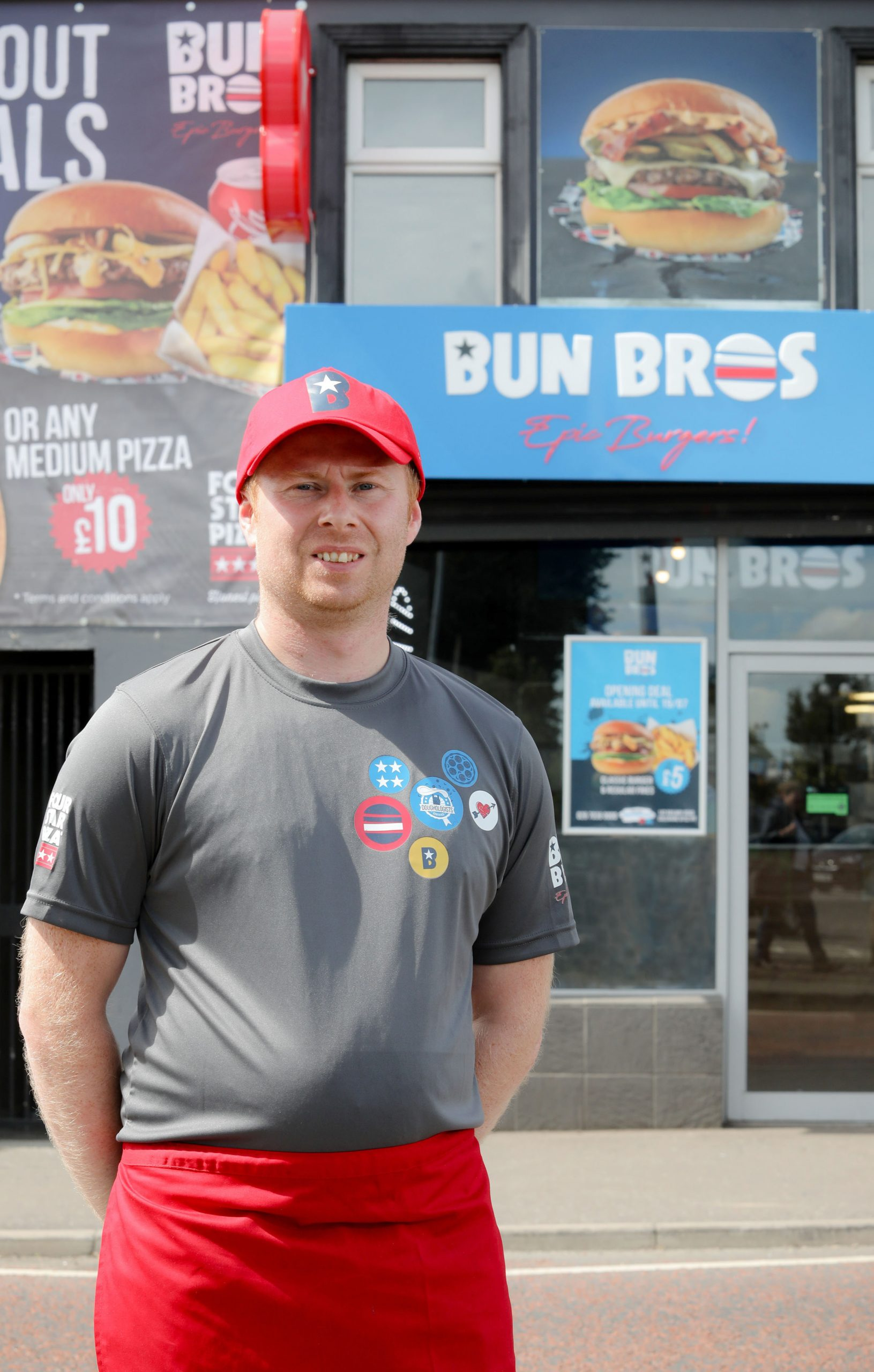 NEW burger chain Bun Bros has opened its first ever store in Northern Ireland, creating 12 new jobs in the Coleraine area after a £50,000 investment. The store will offer burger lovers a vast array of made-to-order burgers produced using only locally sourced Irish Beef. Pictured at the launch is Store owner Darren Colgan. For more information on Bun Bros or to order, go to https://bunbros.co.uk or check the company out on social media at https://www.facebook.com/BunBrosColeraine Photo by Philip Magowan / Press Eye