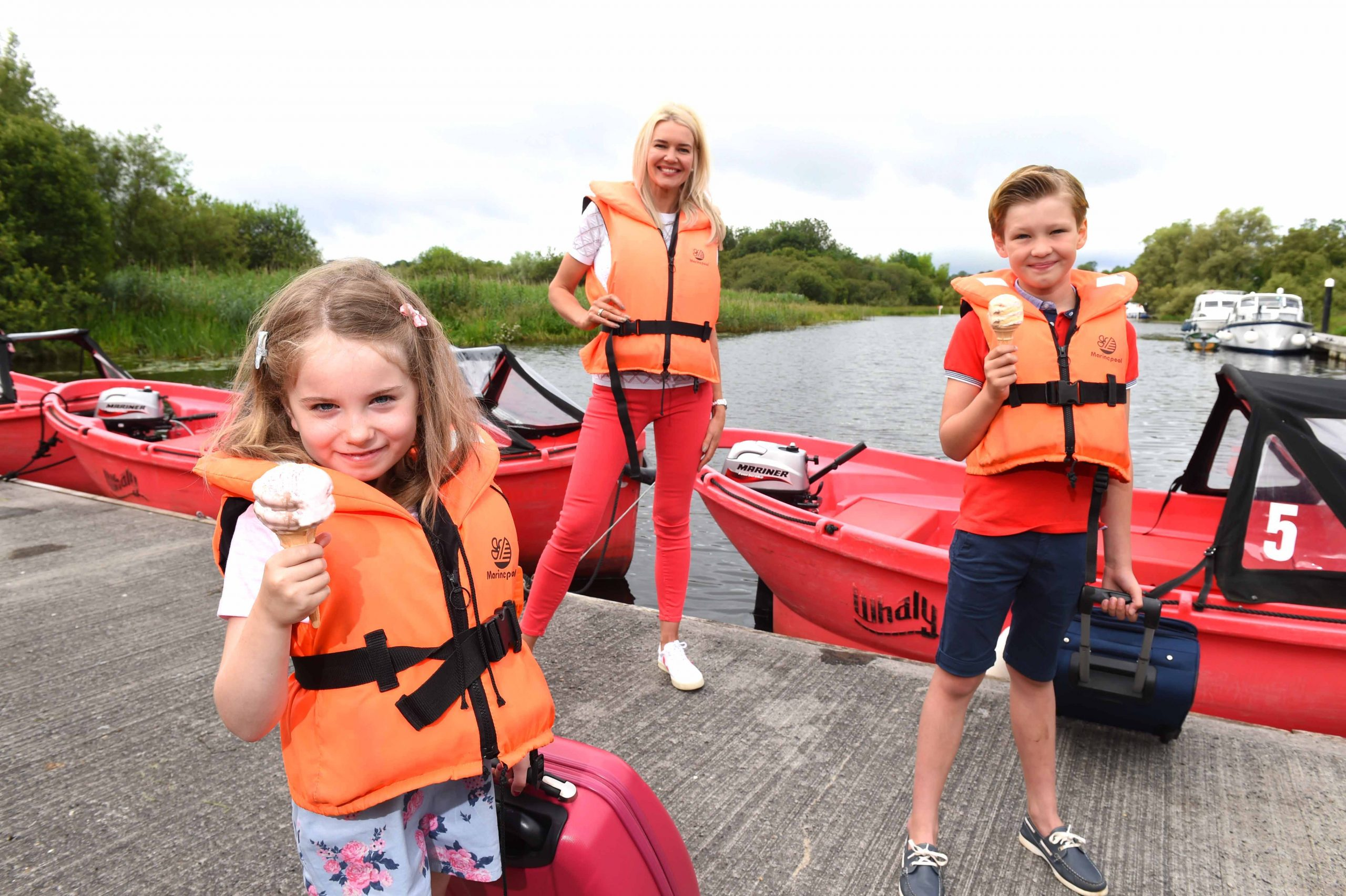 FERMANAGH FUN: As Covid-19 restrictions ease, more and more people are looking forward to a much-needed break and Fermanagh Lakeland Tourism has reported a significant increase in staycation enquiries in the county over the last four weeks. It's new marketing initiative Ready For You aims to encourage holiday makers to book a staycation and enjoy everything that the Lakeland County has to offer. Visit www.fermanaghlakelands.com to plan your staycation today! Pictured as they get ready for a fun filled break in Co. Fermanagh are (L-R) Eabha Smyth, Judith Grey and Wilson Grey.