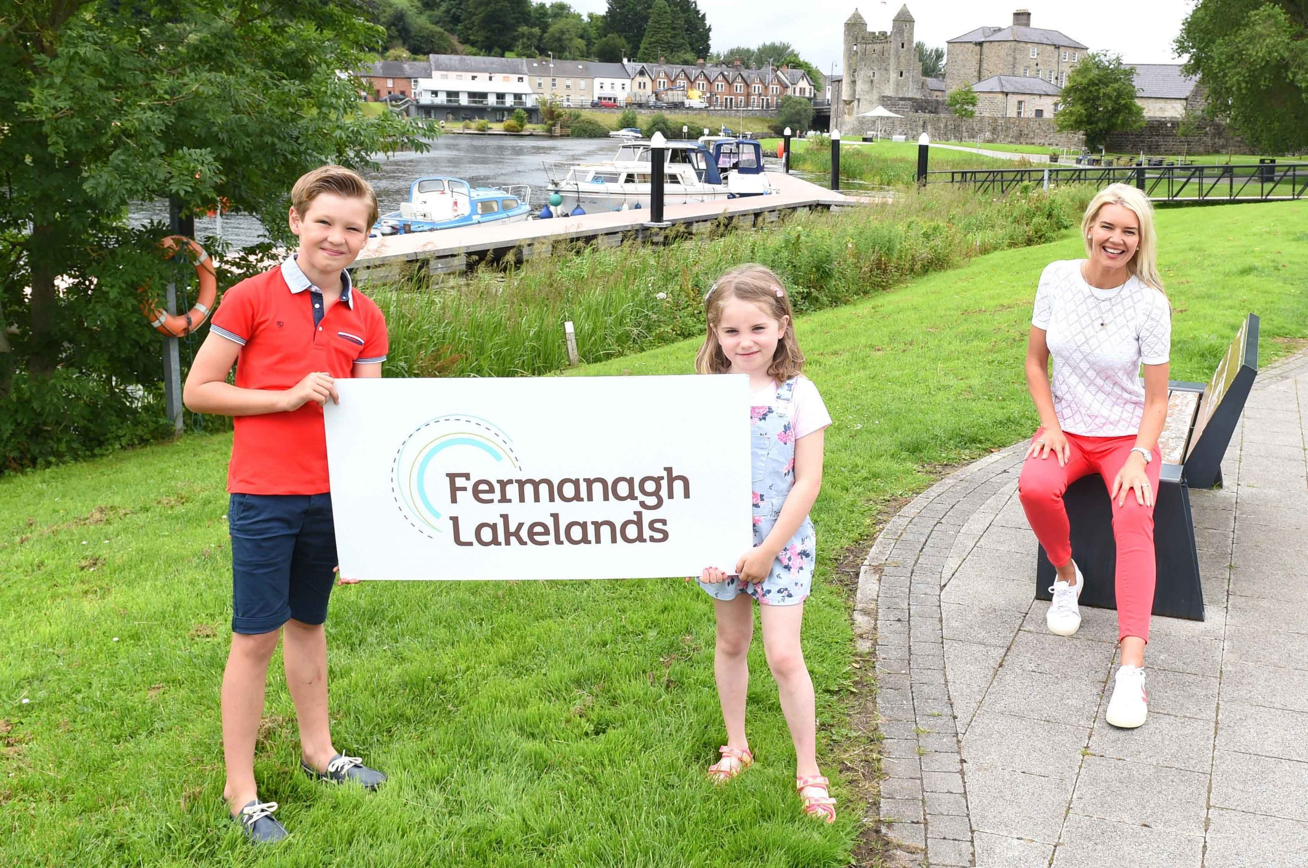 FERMANAGH FUN: As Covid-19 restrictions ease, more and more people are looking forward to a much-needed break and Fermanagh Lakeland Tourism has reported a significant increase in staycation enquiries in the county over the last four weeks. It's new marketing initiative Ready For You aims to encourage holiday makers to book a staycation and enjoy everything that the Lakeland County has to offer. Visit www.fermanaghlakelands.com to plan your staycation today! Pictured as they get ready for a fun filled break in Co. Fermanagh are (L-R) Wilson Grey, Eabha Smyth and Judith Grey.