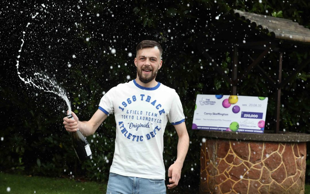 County Tyrone footballer SCORES big on  National Lottery Scratchcard