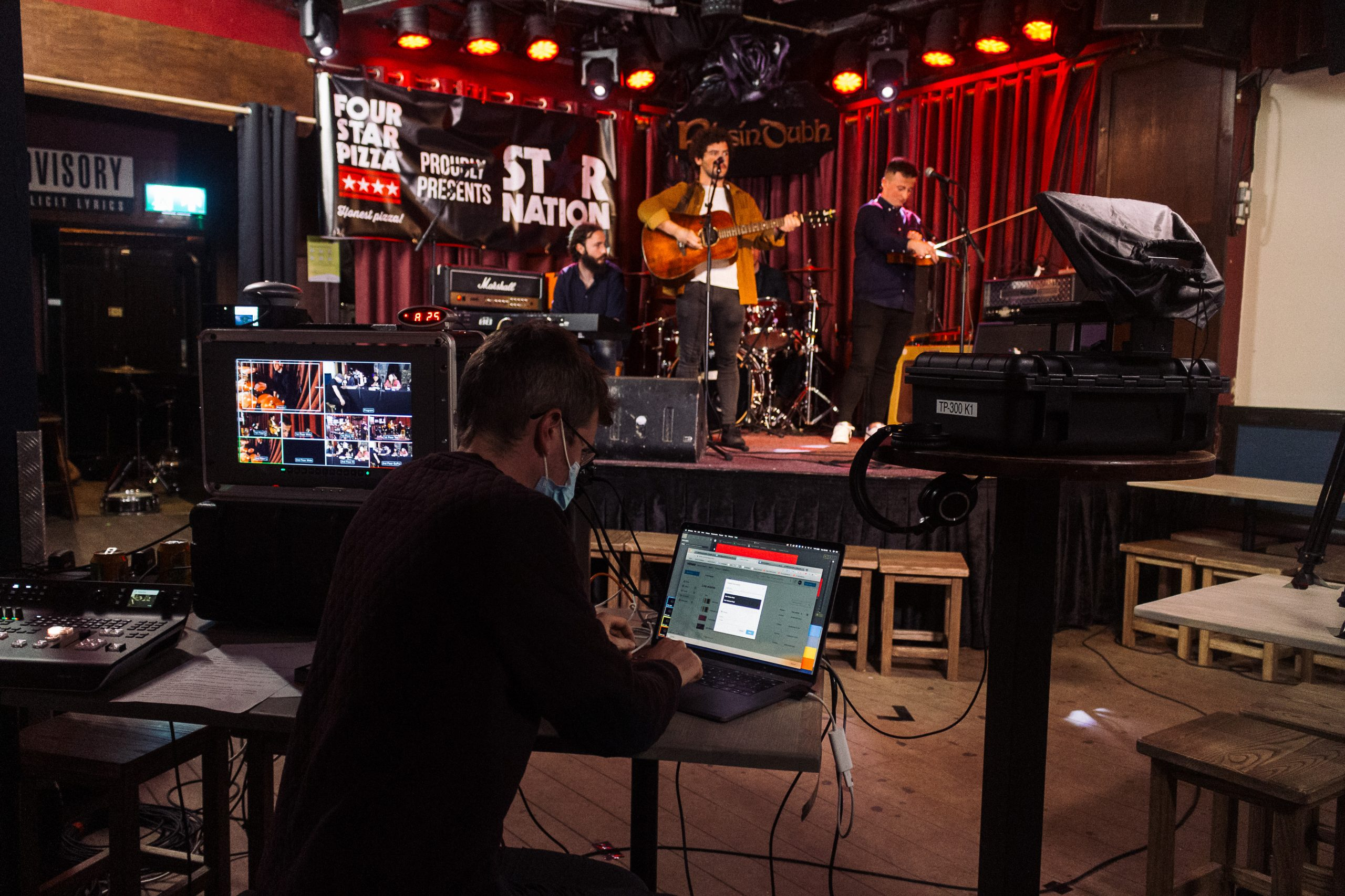 Munster representative Cormac Looby from County Tipperary performs in the Grand Final of Star Nation 2020 at the Roisin Dubh in Galway. The all-Ireland music competition organised by Four Star Pizza was won by Rachel Grace, a young singer songwriter from County Wexford.
