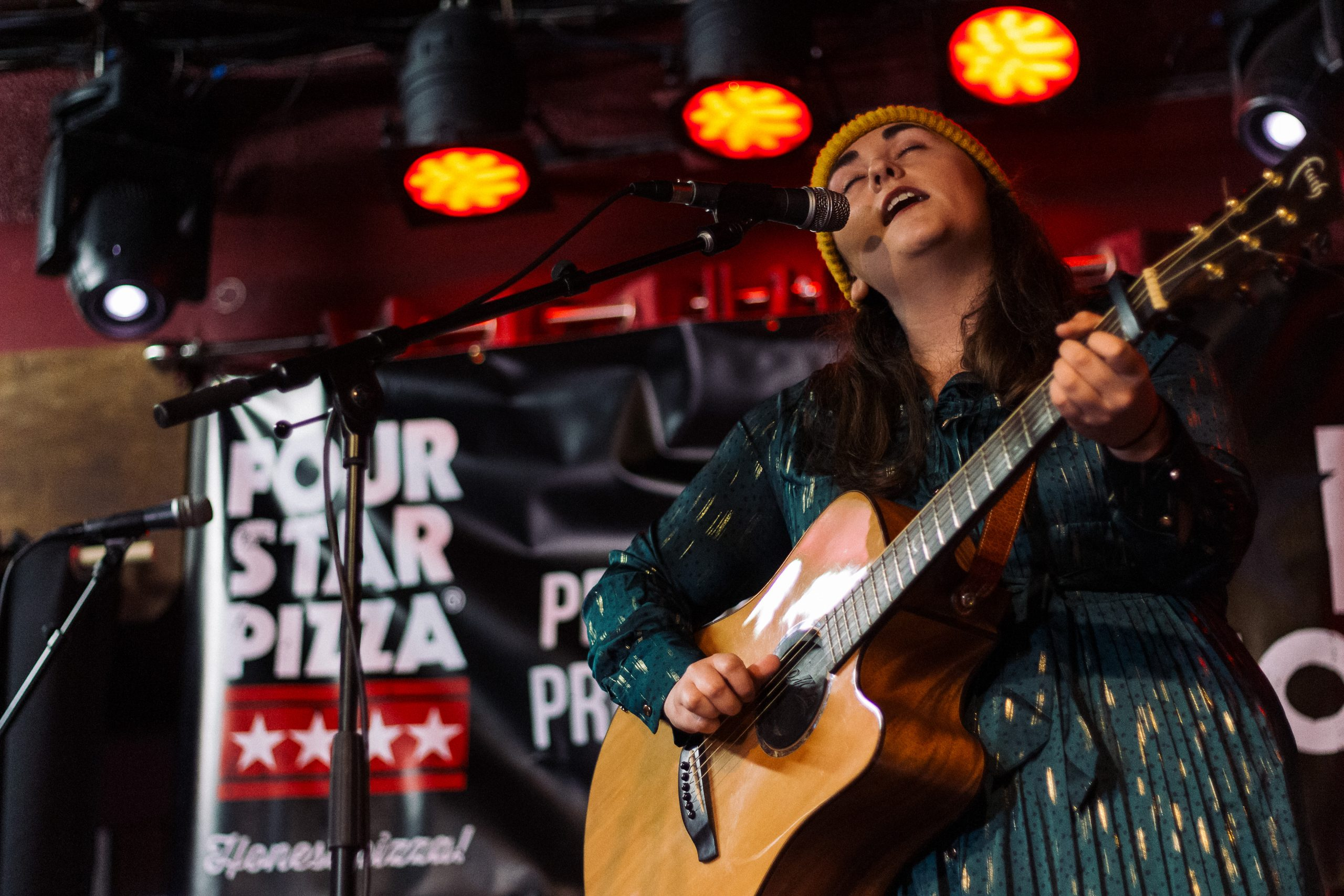 A STAR IS BORN: Star Nation 2020 winner Rachel Grace from Wexford performs at the Roisin Dubh in Galway in the Grand Final of the all-Ireland music competition organised by Four Star Pizza.