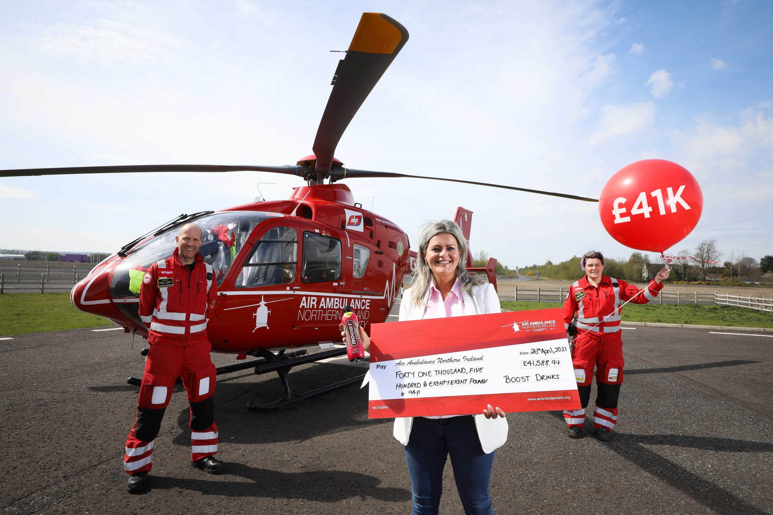 AIR AMBULANCE NI GETS £41K BOOST FROM SOFT DRINK GIANT