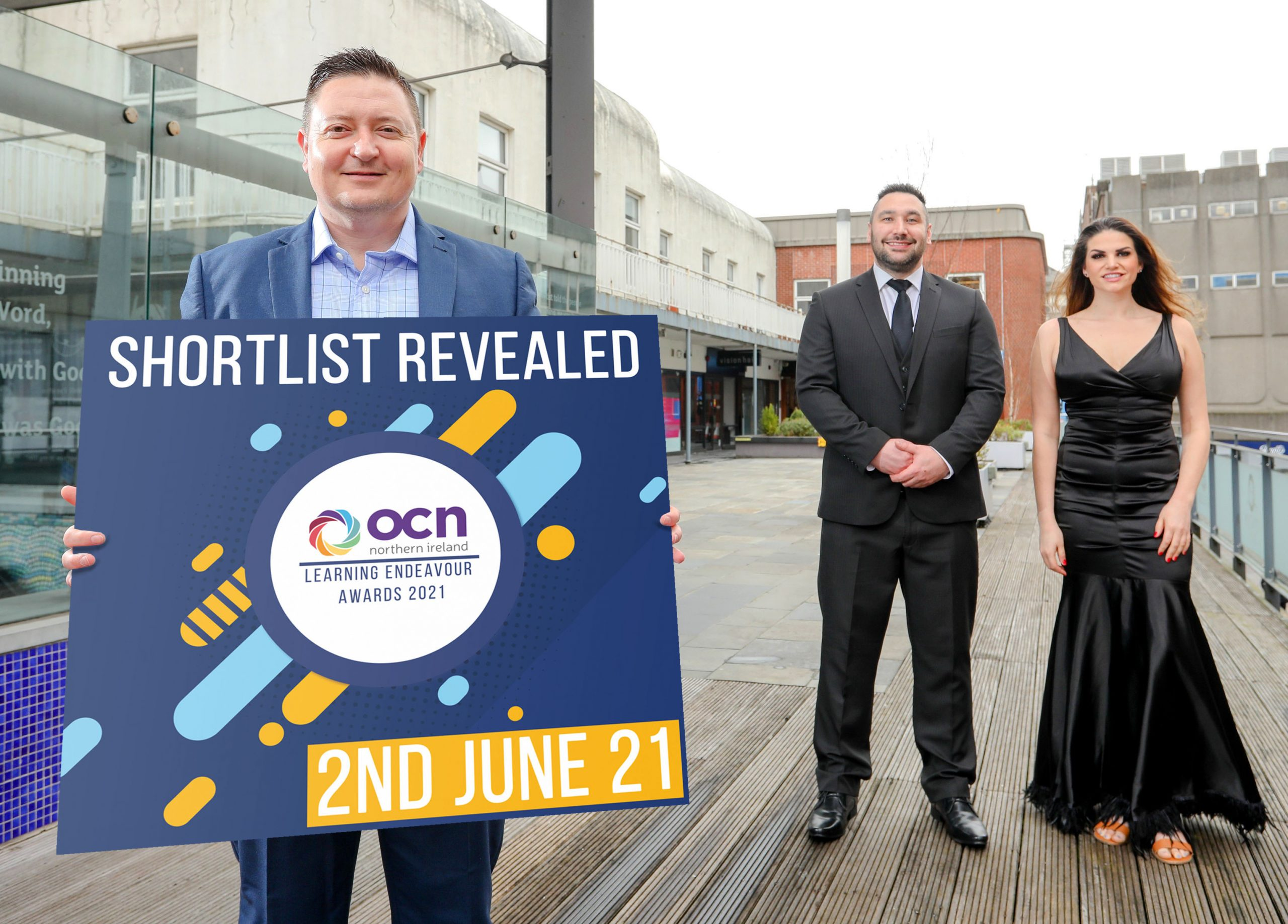 SHORTLIST ANNOUNCED - Radio presenters, Jordan Humphries and Steve Turnbull, join the Open College Network NI (OCN NI), CEO, Martin Flynn, to announce the shortlist for this year's annual Learning Endeavour Awards. OCN NI is an educational charity and awarding body that advances education by developing qualifications for adults and young people throughout NI. The awards shortlist includes nominees from all over Northern Ireland and covers categories such as Third Sector Learner of the Year, FE Learner of the Year, Schools Learner of the Year and Inspiring Tutor/Teacher of the Year. A new category for 2021, Advancing Learning Through Innovation, was added to recognise how organisations have transformed the delivery of qualifications throughout the Covid-19 pandemic. For more information visit https://www.ocnni.org.uk/learner-awards-2021/.