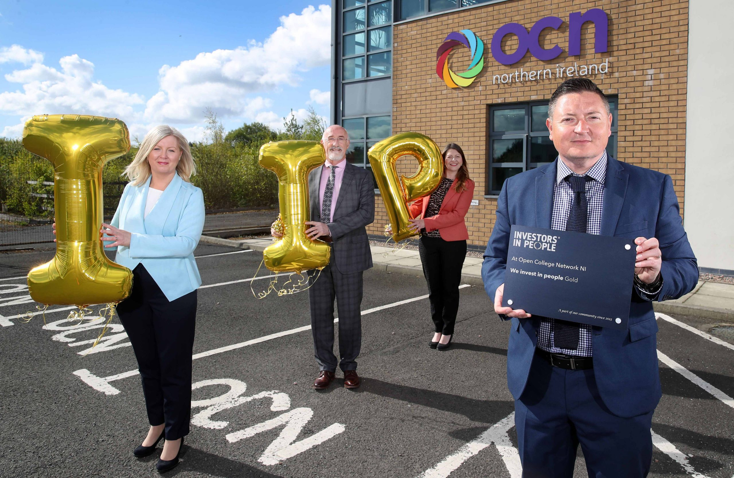 """OPEN COLLEGE NETWORK NI (OCN NI) has been awarded 'We invest in people, gold accreditation' by Investors in People, a status only 17% of accredited organisations have achieved. OCN NI is an educational charity and awarding body that advances education by developing qualifications for adults and young people throughout NI and has recently become Northern Ireland's leading awarding body. Martin Flynn, CEO, OCN NI, said: """"I am really very proud that our team has achieved the Gold accreditation from Investors in People. Everyone at OCN NI has shown how hard-work and commitment helps improve all of our working lives, especially poignant during a pandemic, and I'd like to send a personal note of thanks to all of my colleagues"""", he concluded. For more information visit www.ocnni.org.uk. Celebrating their gold accreditation are OCN NI colleagues (l to r), Charlotte Fegan, Director of Corporate Services, Simon Hamilton, Director of Compliance and Audit, Jo Bailey, Director of Business Development and Martin Flynn, CEO."""
