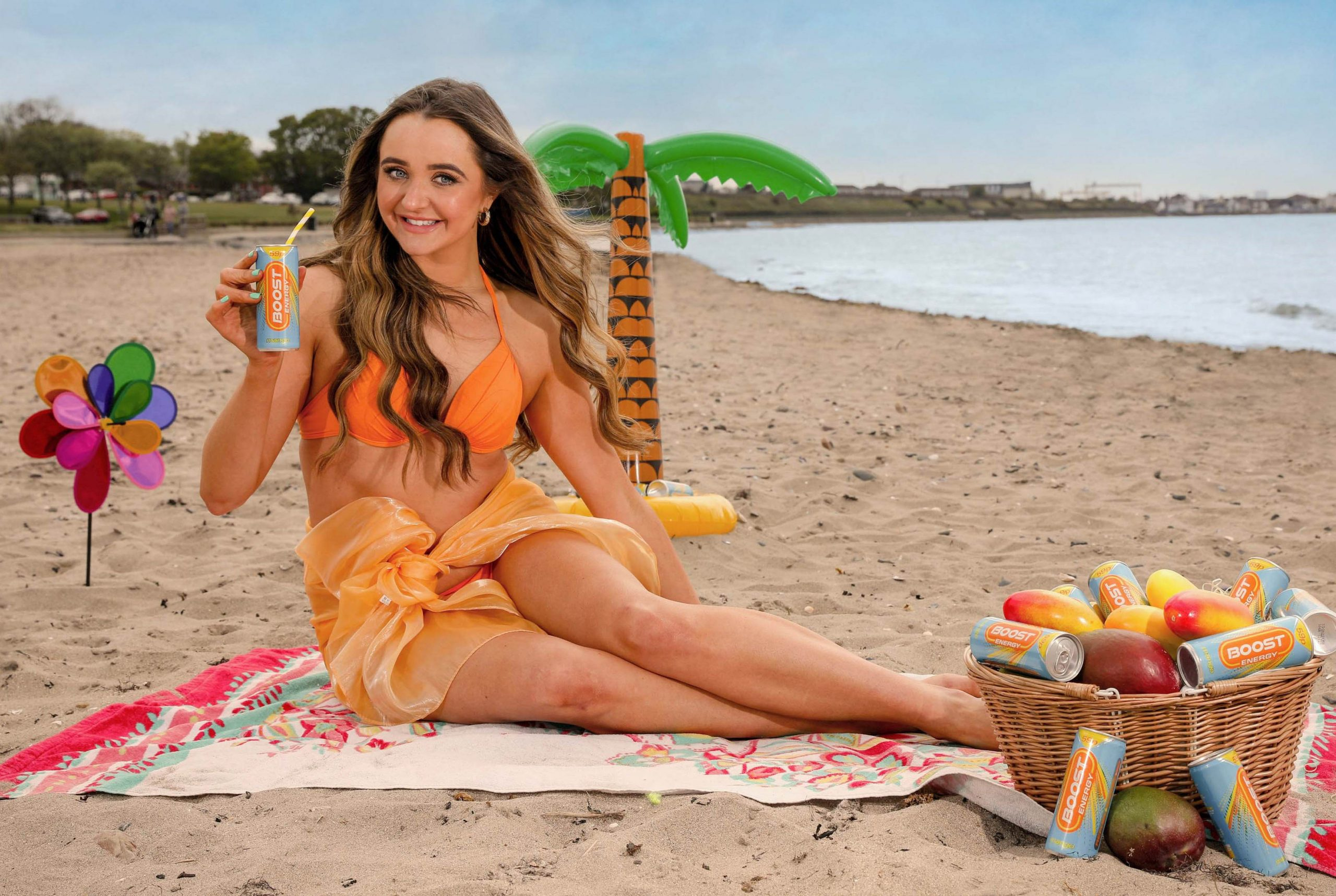 Boost society member, and Miss NI finalist, Abbie Parkinson, 24, gets a bit fruity as Boost announces the NI launch of Boost Energy Mango 250ml. As we head into the Summer period consumers are looking for that refreshing hit of flavour to lift their spirits and transport them to somewhere more exotic. Through market research, Boost Drinks found that consumers are choosing more fruity, tropical flavours with Mango being the clear winner at tickling tastebuds with a 22% year-on-year growth in consumer popularity. Boost Mango is available in independent retail stores across NI now. Picture: Philip Magowan / PressEye